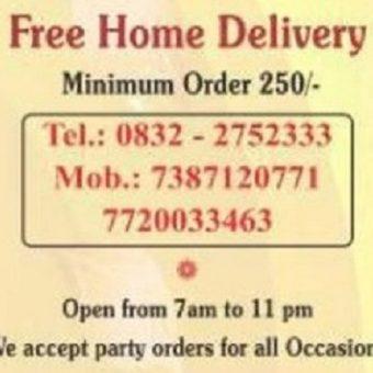 Take Away Menu of Krishna Veg Restaurant